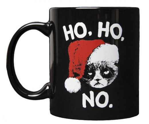 Grumpy Cat Christmas Mug