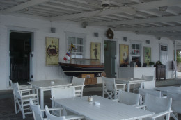 Casual chic setting of the Sunset Restaurant