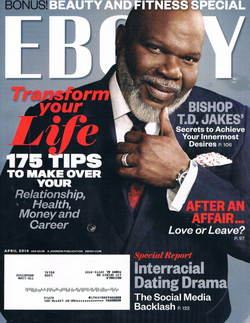 TD Jakes graces the cover of Ebony Magazine