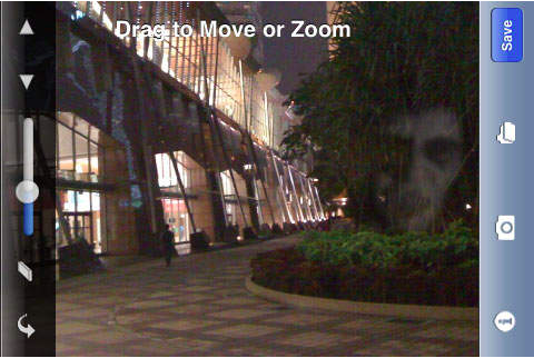 Ghost Camera Pro screen shot. Available via iTunes.