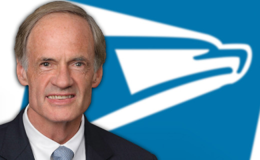 Tom Carper may position himself as the stout defender of the proud Postal Eagle, but he has stood lockstep behind PMG Pat Donahoe's efforts to shut down post offices and processing plants.