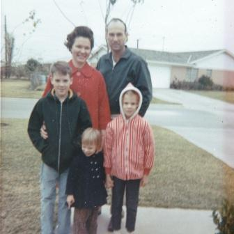My family in 1966.  I'm the one in the red & white hooded jacket