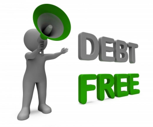 Declare that you are going to be debt free.