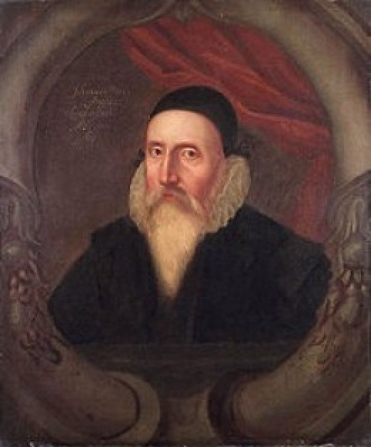 John Dee (13 July 1527 – 1608 or 1609) was a mathematician, astronomer, astrologer, occultist, imperialist and adviser to Queen Elizabeth I
