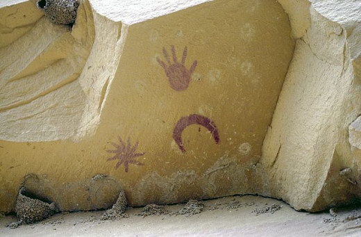 Petroglyph in Chaco Canyon, - believed to depict the 1054 Supernova explosion
