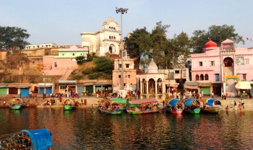 Ram Ghat from opposite bank of Mandakini 1