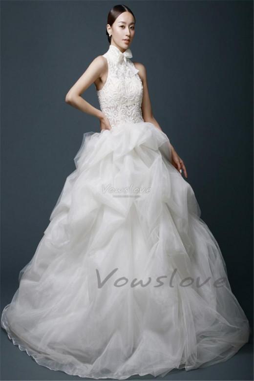 high neck wedding dress 2015