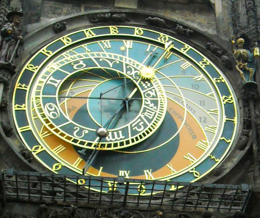 The Astronomical Clock in Prague, CZ Rep.
