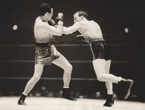Lou Ambers beat Tony Canzoneri by 15 round decision in their lightweight title fight rematch. Ambers had superb ring skills especially his footwork and jab.
