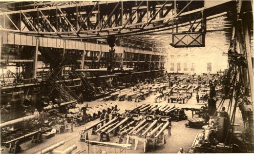 Krupp Arms factory, WWI