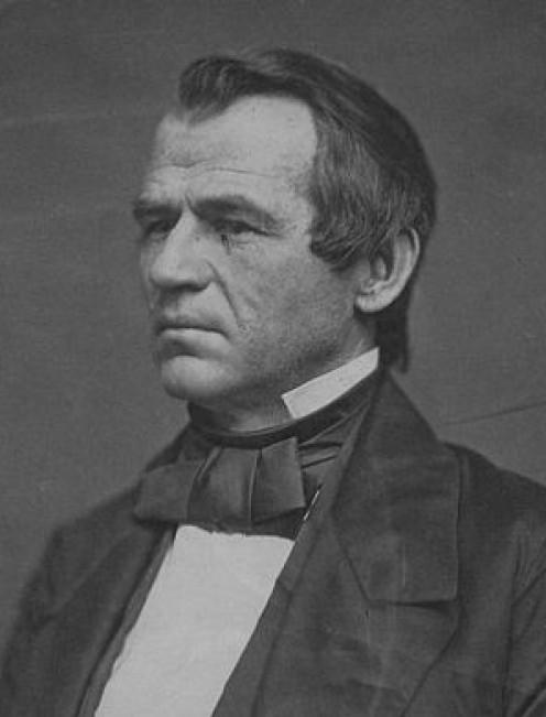 President Andrew Johnson in 1860