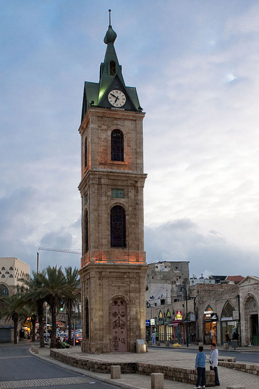 The Jaffa Clock Tower, 30 minutes before sunset.