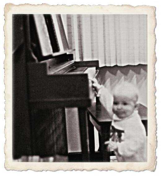 My daughter playing Ben, Christmas 1984