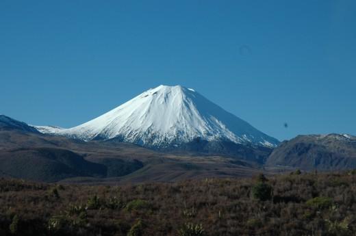 Ngarahoe a volcanic vent from Tongariro