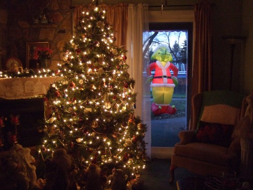 Our Grinch Inflatable Lawn Ornament Decoration