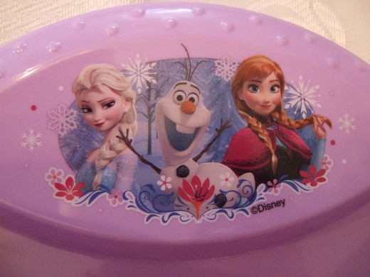 Frozen Plate Closeup