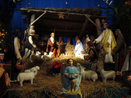 Nativity scene of the first Christmas. The birth of Jesus Christ our Lord and Savior. Jesus is the reason we celebrate Christmas. We celebrate his birth.