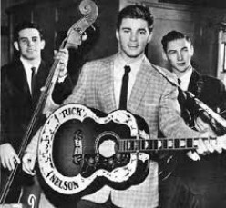Rick Nelson, teen heartthrob, singing one of his many hits on the show