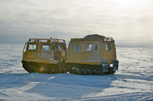Snow transports like this one in Alert, Nunavut may provide good models for Moon Transports that must travel through thick dust.