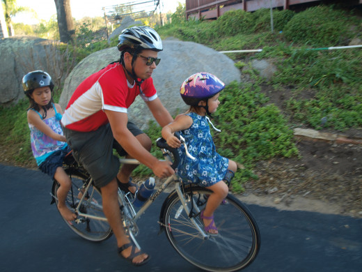 The Surly LHT with two dangerously riding children, no problem.
