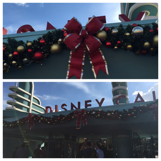Disney California Adventure gate decorations.