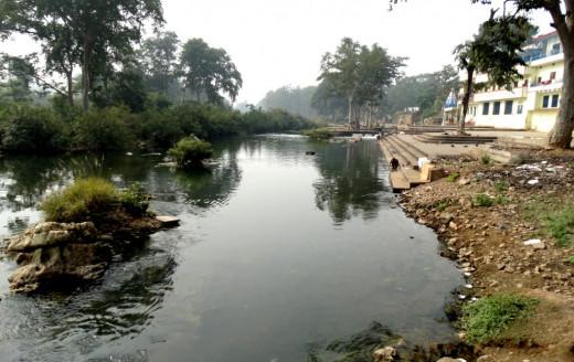 Mandakini river upstream at Janki Kund