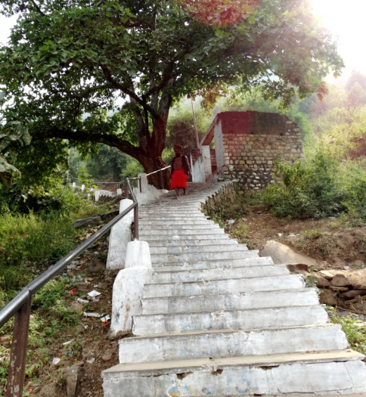 Stairs on the hill