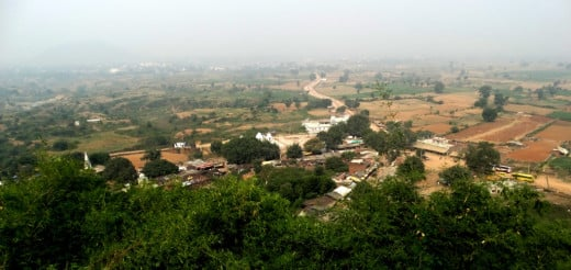 Bird's Eye view of Chitrakoot Dham from the top