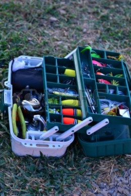 You can buy a fully stocked tackle box and have every thing you need to go fishing.