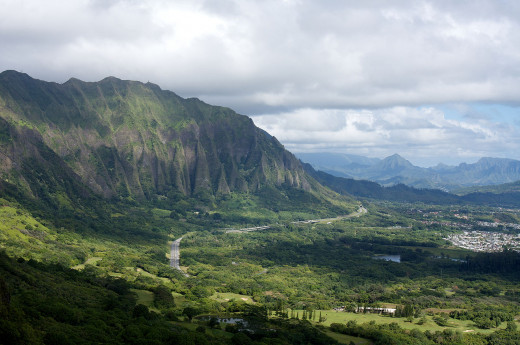 View from the Nu'uanu Pali Lookout