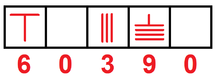 Chinese rod system for numbers.  Notice how an empty box is used to show an empty place value.