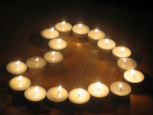 Romantic Heart from Candles