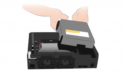 Removing the DVD drive