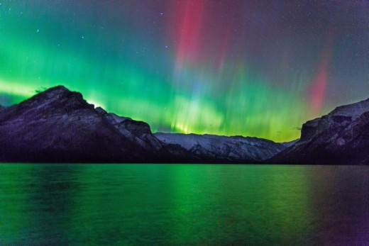 The Aurora Borealis seen from Canada.