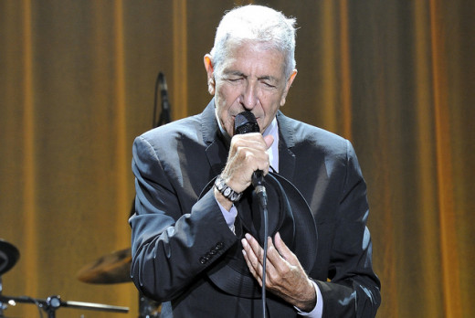 Leonard Cohen in Denmark in August 2013