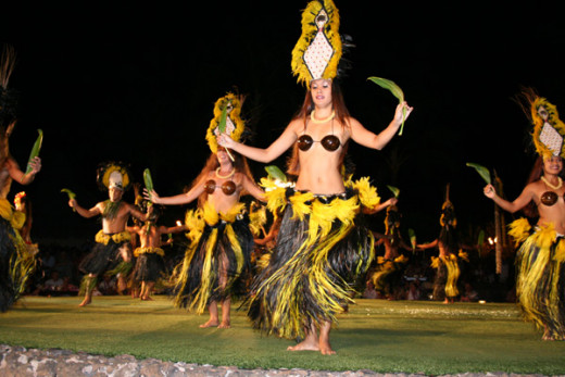 The type of music played set the mood for the Hawaiian Luau, experiencing excitement, and joy.