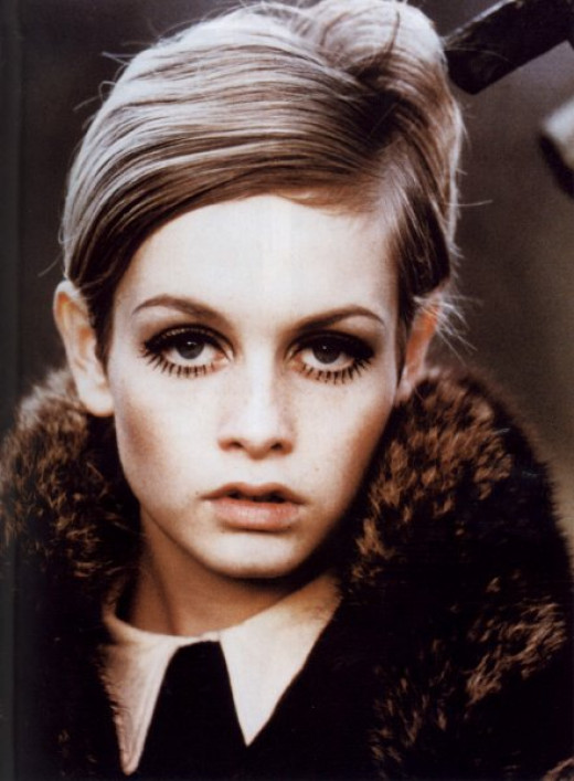 Twiggy's eyes were larger than life.