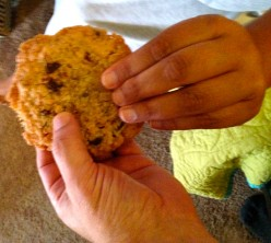 Sharing a Cookie with Brother Thay