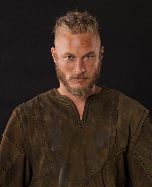 in Vikings regalia