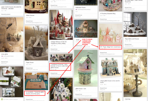 You'll find links to sites with tutorials for making cardboard houses.