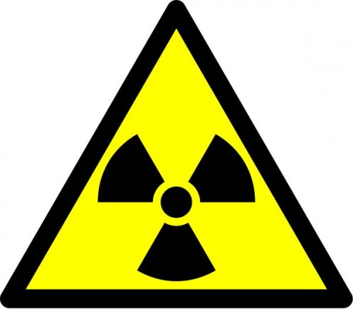 This is a radioactive sign commonly used in laboratory and x-ray rooms.