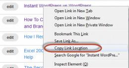 Copy Link Location
