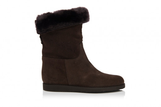SALVATORE FERRAGAMO My Ease Shearling Ankle Boot