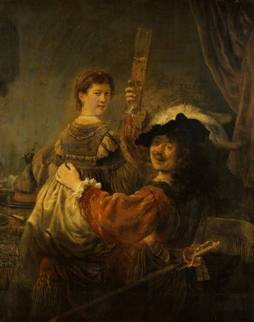 Rembrandt and Saskia in the parable of the Prodigal Son (1635)