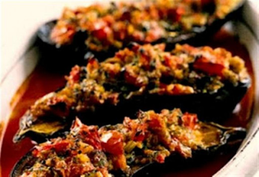then you have to try this stuffed eggplant recipe that stands up to any meat entrée you want to put it up against     ‏