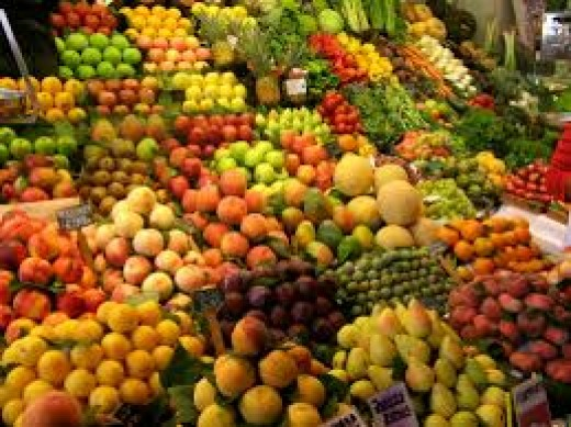 Fruit and vegetables contain vitamins and nutrients that are needed for conception