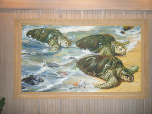 One of the paintings that welcomes guests to the resort.