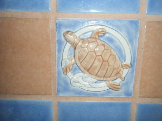 There were even sea turtles on the tile in the rooms.