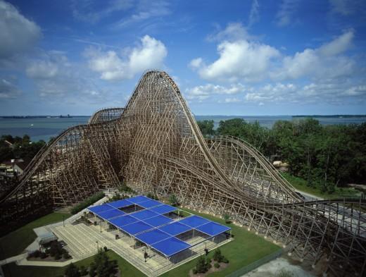 Mean Streak Roller Coaster in Cedar Point