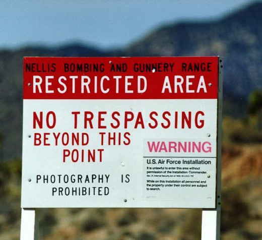 Area 51 and other supposed UFO sites are heavily guarded locations.